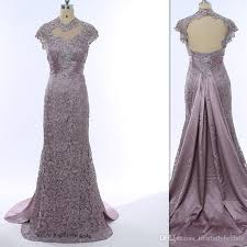 2017 lace silver grey sheer mother of the bride dresses gray cap