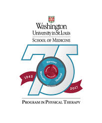Wash U Colors - wupt 75th anniversary celebration program in physical therapy