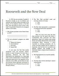 roosevelt and the new deal reading with questions