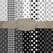 Mixed Patterns by Black U0026 White Pattern Paper Set