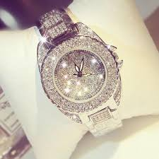 luxury bracelet watches images Bracelet watch women luxury round diamond steel watch quartz jpg