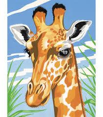 reeves junior paint by number kits 9 u0027 u0027x12 u0027 u0027 giraffe joann