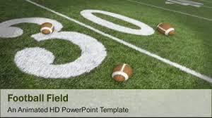 football field a powerpoint template from presentermedia com