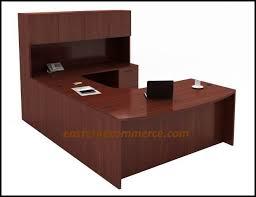 cherryman amber series am 358r bow front u shape desk w hutch