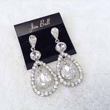 jim earrings clear austrian rhinestone and dangle earrings jim 2