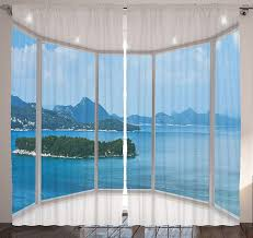 amazon com nature modern home decor curtains by ambesonne