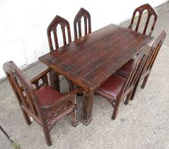 Style Mahogany Dining Room Set SOLD - Gothic dining room table
