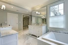 White Bathroom Ideas - white marble bathrooms home interior design ideas