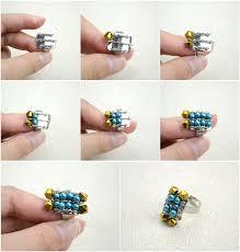 beaded ring bracelet images Handmade beaded jewelry designs simple pearl bracelet and ring set jpg