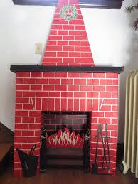 home decor best cardboard christmas fireplace design ideas