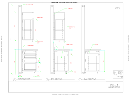 cad detail drawing of kitchen cabinets by dashawn wilson cad