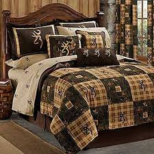 Quilt Comforter Set Browning Country 7 Pc Queen Quilt Comforter Bedding Set Lodge Log