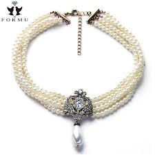 jewellery pearl necklace images Four layer simulated pearl necklaces pearl whirl jpg