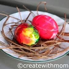 create with mom painting eggs and joy to share kinder canada