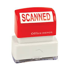 Does Office Depot Make Business Cards Office Depot Brand Pre Inked Message Stamp Scanned Red By Office