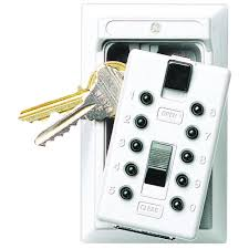 kidde permanent 5 key box with pushbutton combination lock white