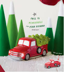 special delivery retro red truck scentsy warmer with christmas