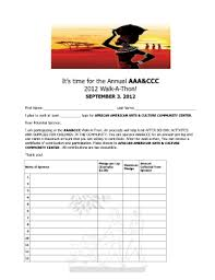 Pledge Sheets For Fundraising Template by Walk A Thon Pledge Form Fill Printable Fillable Blank
