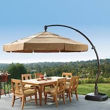 Side Patio Umbrella Cheap European Side Mount 11 U0027 Patio Patio Umbrella Vanilla