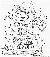 barney 47 coloring free barney coloring pages