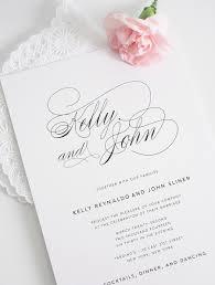 Simple Invitation Card Elegant Wedding Invitation Kawaiitheo Com