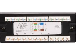 24 port cat6 patch panel 110 type 568a b compatible monoprice com