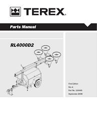 terex rl4000 nut hardware