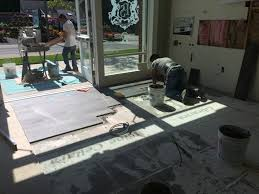 peter salerno inc showroom update new tile in transitional