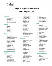 does it or list it leave the furniture things to buy for a new house essentials checklist