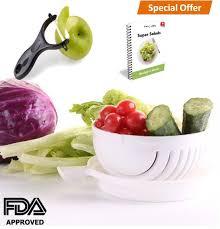 amazon com special offer premium salad cutter bowl vegetable