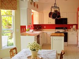 spanish style kitchen design behind the color red hgtv