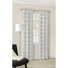 mainstays curve trellis heavyweight window curtain panel set of 4