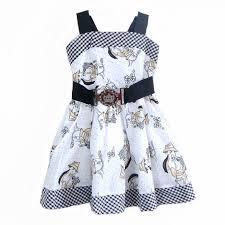 summer toddler party dresses 2017 cartoon dog pattern
