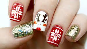 cute reindeer u0026 fair isle holiday nail art tutorial youtube