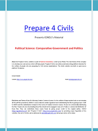 ignou u0027s political science material part 1 comparitive government