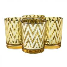 chevron votive candle holders 2 5 gold 424306 wholesale