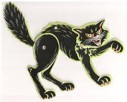 vintage halloween black cat paper doll cats halloween pinterest