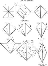 origami gabbiano figure di carta az colorare