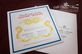Invitation Pocket White Blue Yellow U0026 Red Modern Wedding Invitation U2013 Pocket Card