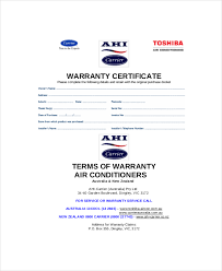 Certification Letter Format Sle Warranty Certificate Template Sports Certificate Template Free