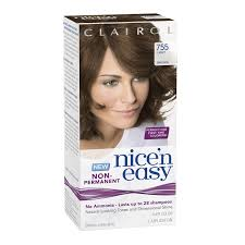 best box hair color for gray hair amazon com clairol nice n easy non permanent hair color 755