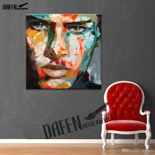 5 piece canvas wall art hand painted palette knife oil angry man wall art 100 hand painted oil painting on canvas palette
