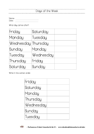 free printable days of the week workbook and poster the