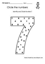 worksheet for kindergarten identifying numbers number sequence