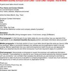 application letter quantity surveyor how to write a resume for a