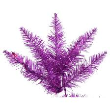 2 ft pre lit purple artificial tree with metal stand and