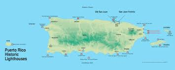 Map Puerto Rico Large Hicstoric Lighthouses Map Of Puerto Rico Puerto Rico