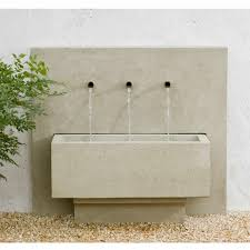Bedroom Wall Fountains Outdoor And Patio Modern Wall Fountains Design With Grey Wall