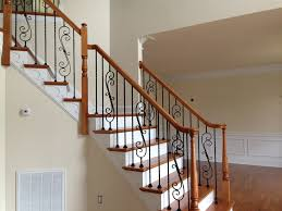 stair lovely home interior decoration with mahogany handrail