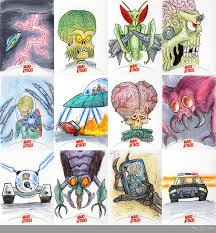 mars attacks invasion sketch cards 13 by monster man 08 on